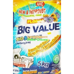 UIC Floral Big Value Bio-3-Action Detergent Powder 5Kg