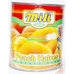 Mili Peach Halves 825 gm