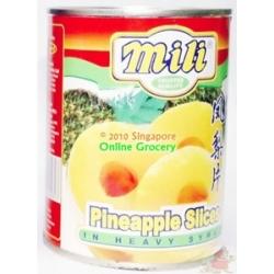 Mili Pneapple Slices 565 gm